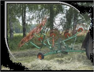 Грабли-валкообразователи колесно-пальцевые полуприцепные Горицвет