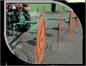 Грабли-валкообразователи колесно-пальцевые навесные Горицвет